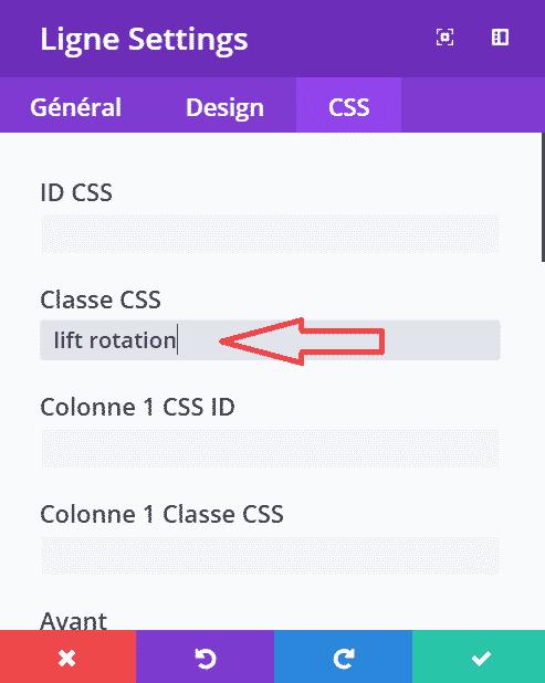 effet de rotation d'une icône CSS